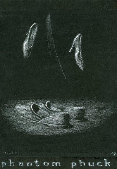 "Pastel drawing titled ""Phantom Phuck."""