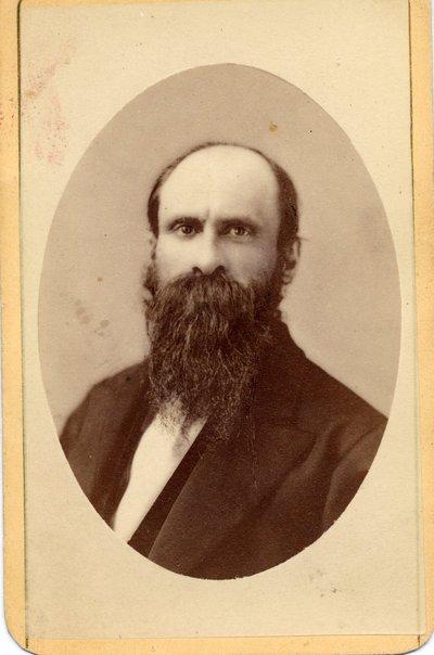 Sepia photographic portrait of Benjamin Lea Arnold.
