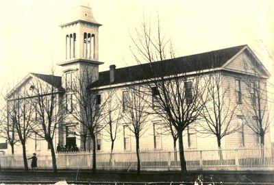Corvallis College Building, 1880