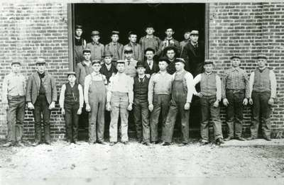 Engineering Class Outside of Mechanical Hall, 1891