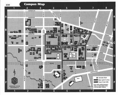 Oregon State Campus Map Special Collections & Archives Research Center | OSU Campus Map, 2000 Oregon State Campus Map