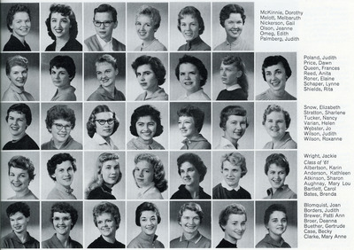 Gail Nickerson in the 1959 Beaver Yearbook