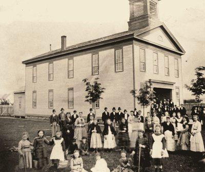 Old Corvallis College Building, ca. 1870s