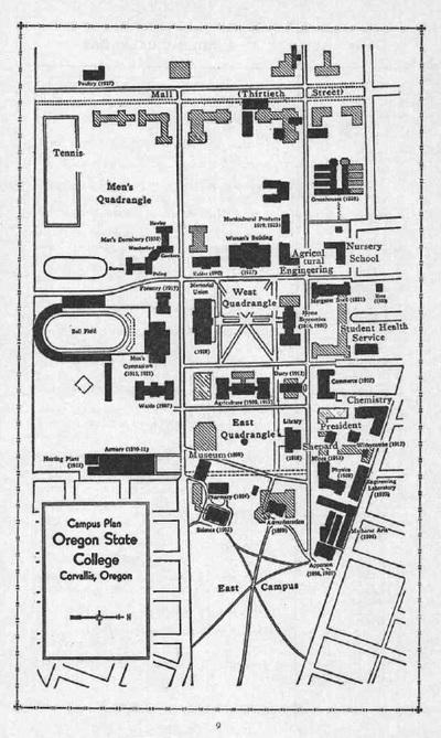 OSC Campus Map, 1940