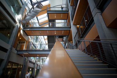 Interior view of the Kelley Engineering Center