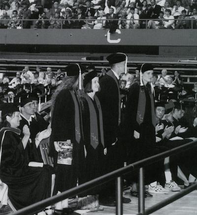 University Honors College graduates at commencement