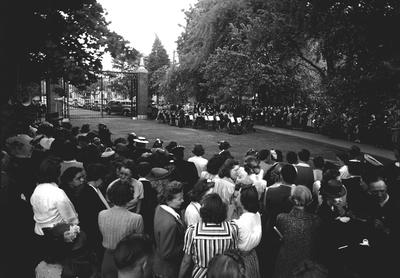Dedication of the campus gates