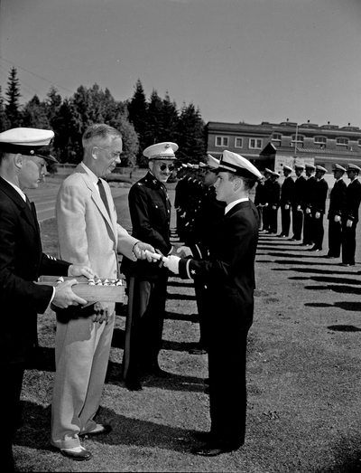 Naval ROTC commissioning ceremony