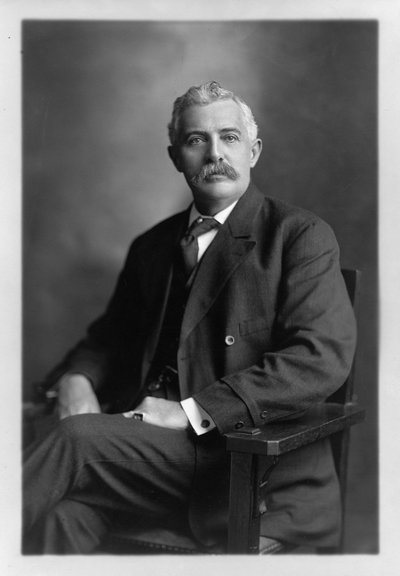 Black and white photographic portrait of Henry B. Miller.
