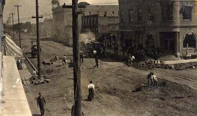 Paving Downtown Corvallis, ca. 1910s