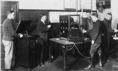 First KOAC radio transmitter, 1922