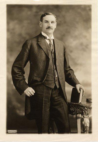 Sepia photographic portrait of William Jasper Kerr.