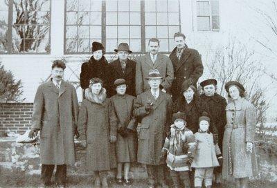 Black and white photocopy of a Hayward family photograph.