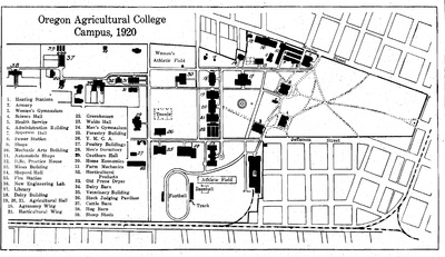 OAC Campus Map, 1920