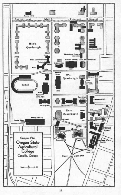 OAC Campus Map, 1930