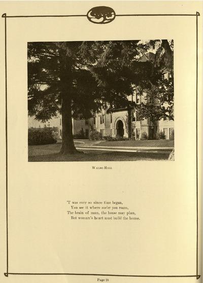 Waldo Hall, 1920