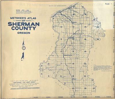 Metsker Map of Sherman County