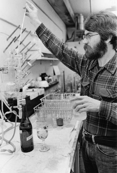 Barney Watson testing wine