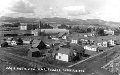 Birdseye view of Oregon Agricultural College