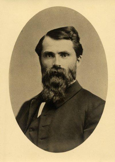 Sepia photographic portrait of William Asa Finley.