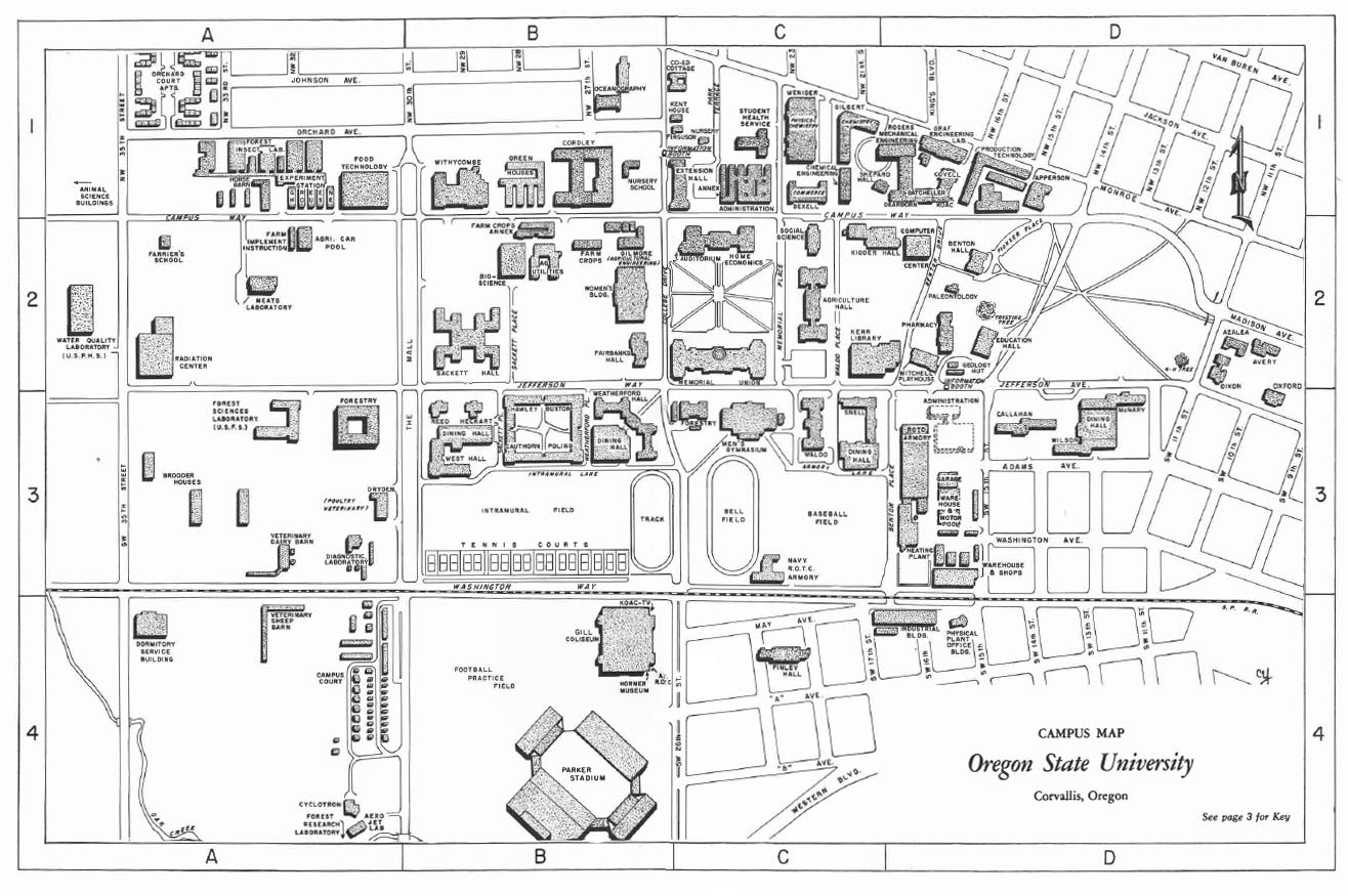 Oregon State Campus Map Where's Waldo? Exploring Waldo Hall History   Special Collections  Oregon State Campus Map