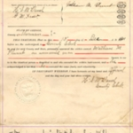 Warranty Deed between Thomas Searcy and William Plumb (back)