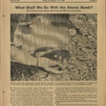 What Shall We Do With the Atomic Bomb? in Current Events: The National School Newspaper