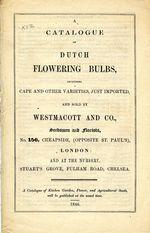 A Catalogue of Dutch Flowering Bulbs. 1846.