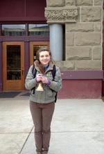 Allison Holding the Bell